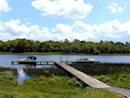 Private jetty on the shores of Lough Erne
