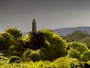 Killala Round Tower nearby
