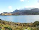Lough Acoose with the MacGillycuddy Reeks in the background